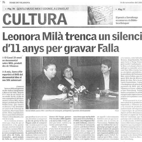Diari de Vilanova (14-11-2008)