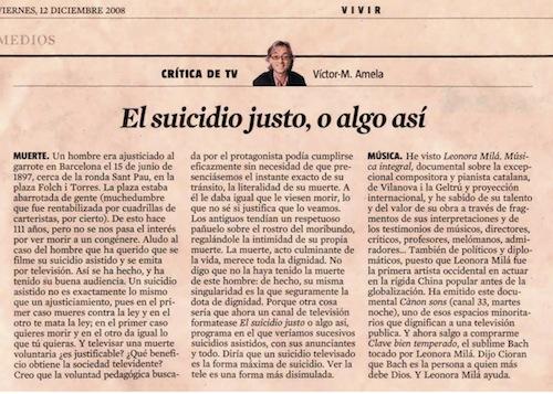 La Vanguardia (12-12-2008)