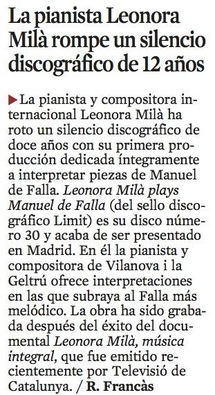La Vanguardia (29-05-2010)
